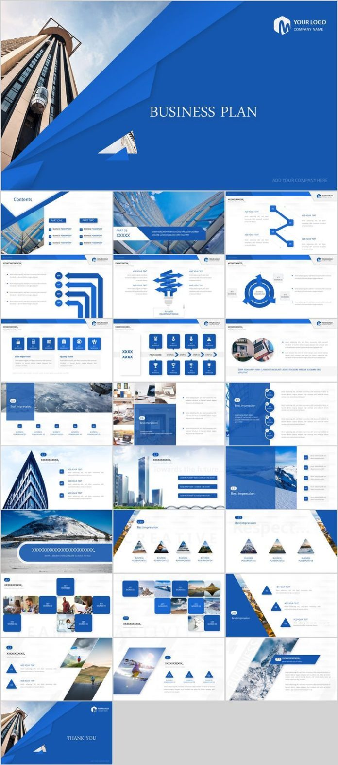 business infographic : 26+ blue creative business plan powerpoint