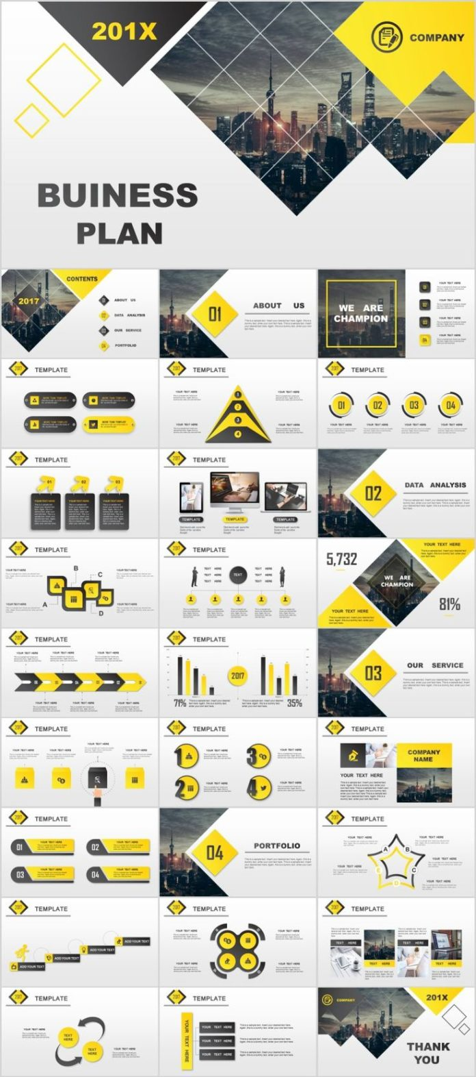 business infographic : 28+ best yellow lowpoly business powerpoint, Low Poly Business Presentation Template, Presentation templates