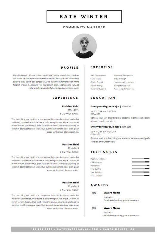business infographic curriculum vitae