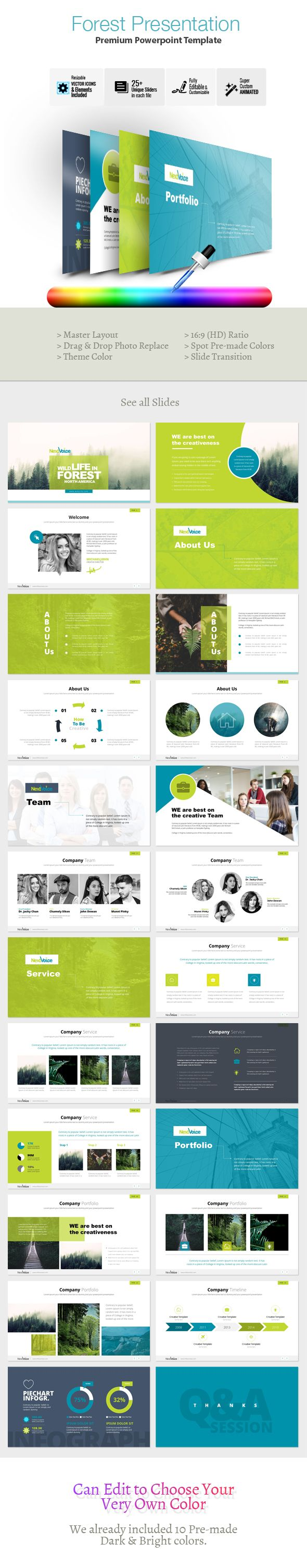 business infographic forest powerpoint presentation template