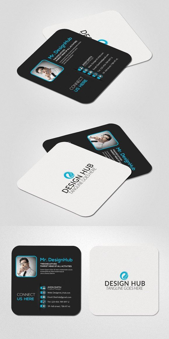 Medical infographic : Mini Social Business Card Template. Medical ...