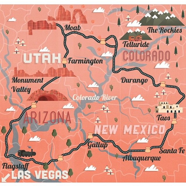 Travel infographic - James Boast - Utah, New Mexico, Colorado and ...