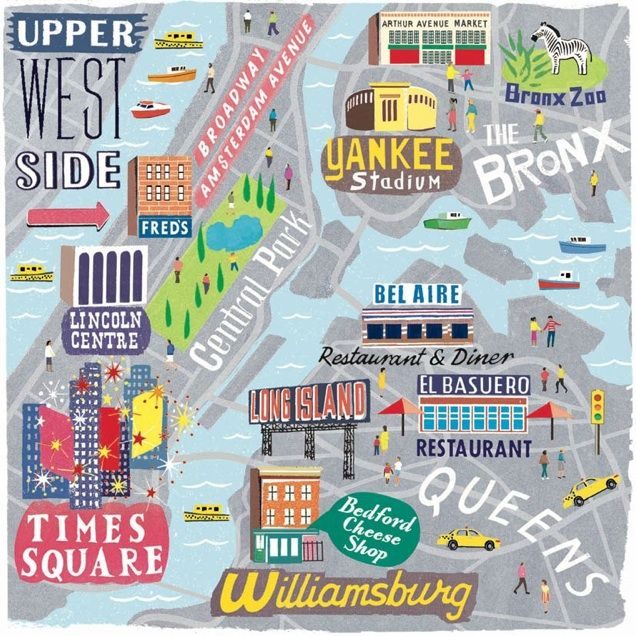 Travel infographic - NYC Boroughs map for Cara Magazine - Anna ...