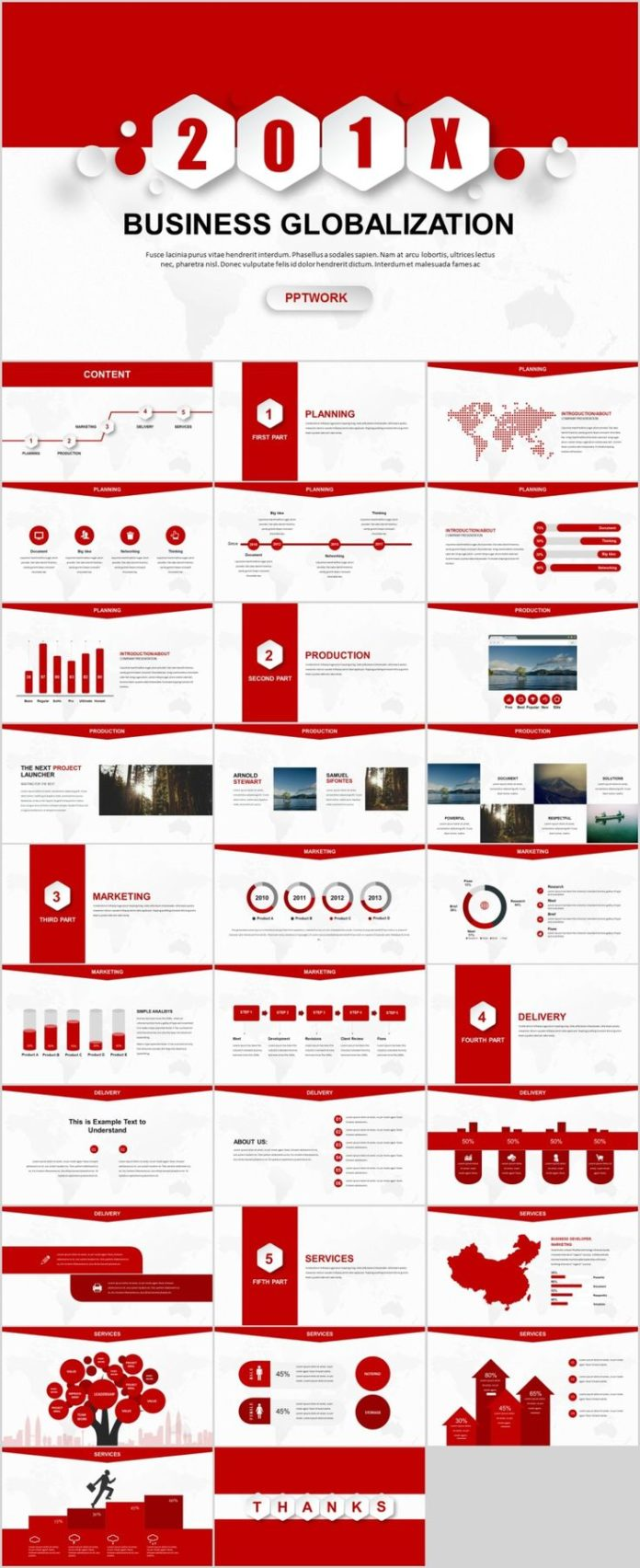 Business infographic 30 red creative business report powerpoint business infographic data visualisation toneelgroepblik Gallery