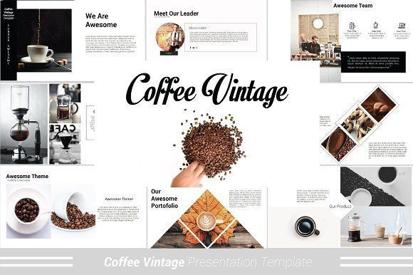business infographic coffee vintage powerpoint template by