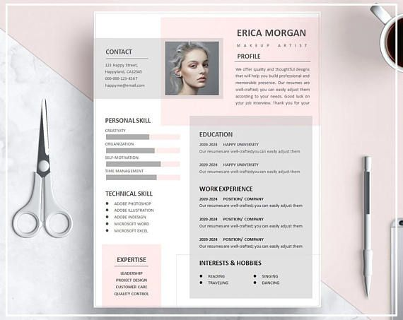 business infographic   curriculum vitae mod u00e8le de rose