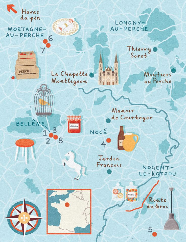Travel Infographic Zara Picken Map Perche Area Of France For - Create a trip map
