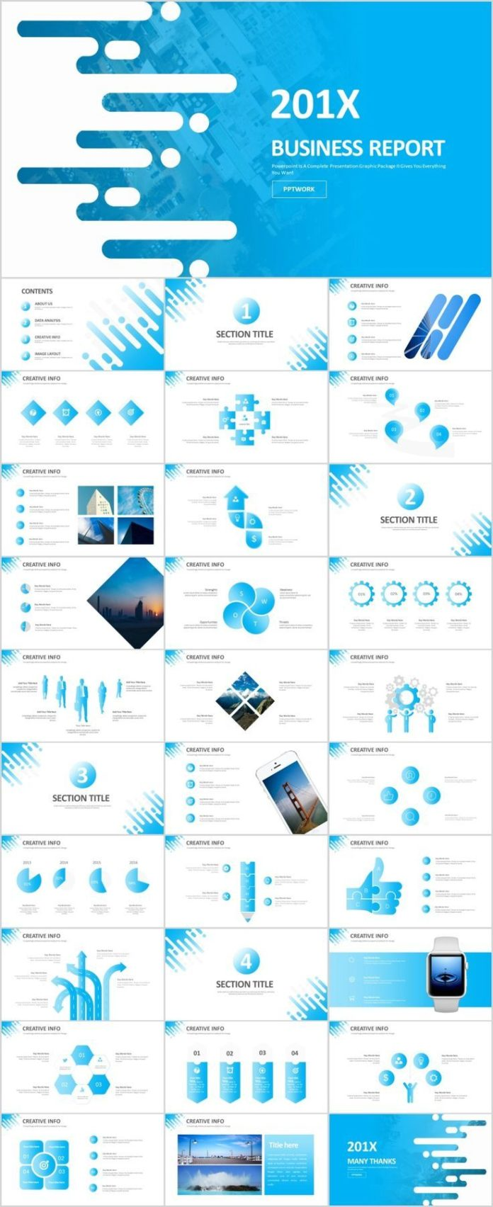 Business Infographic 31 Creative Blue Infographics Powerpoint