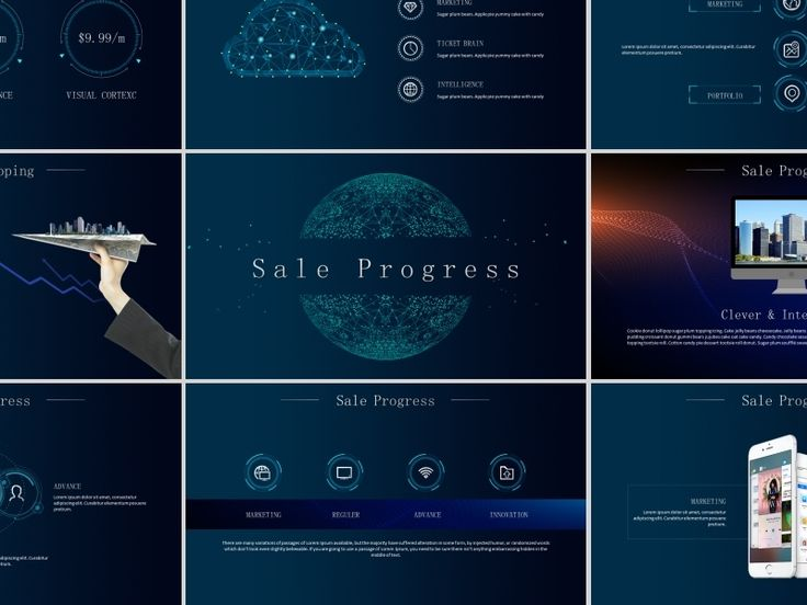 Business Infographic Best Smart Technology Powerpoint Template By