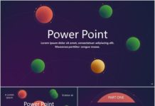 business infographic cosmic stereoscopic dynamic powerpoint