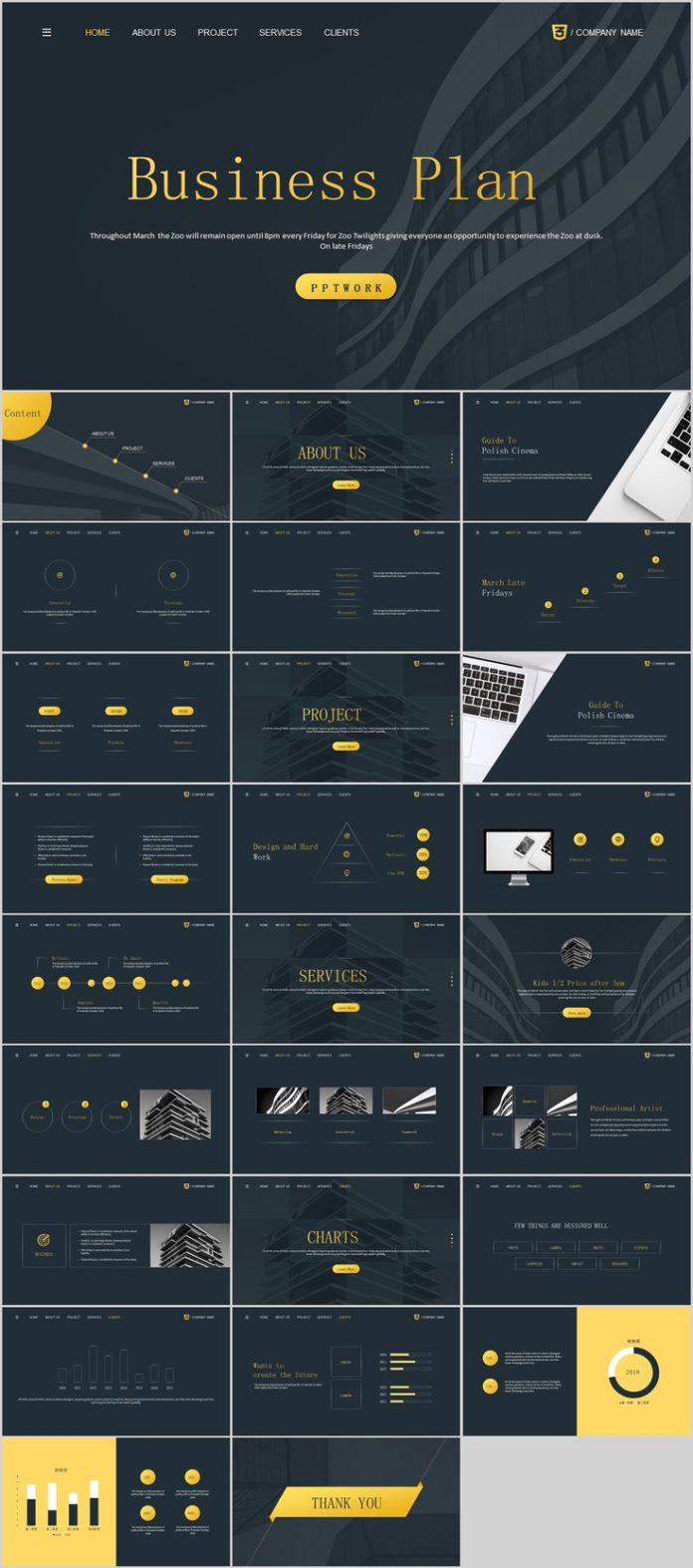 Business Infographic Simple Business Plan Powerpoint Template On
