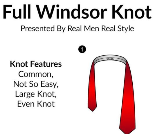 Fashion Infographic How To Tie A Full Windsor Knot