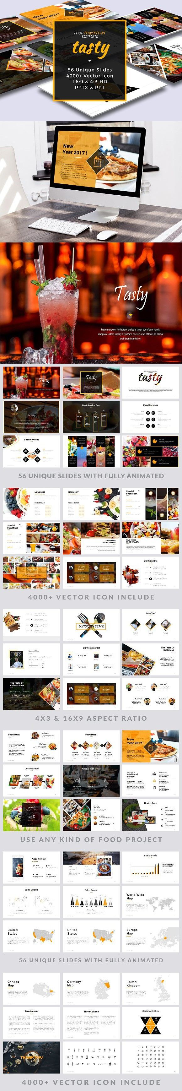 Food Infographic Tasty Food Powerpoint Template Infographic Templates 14 00 Infographicnow Com Your Number One Source For Daily Infographics Visual Creativity