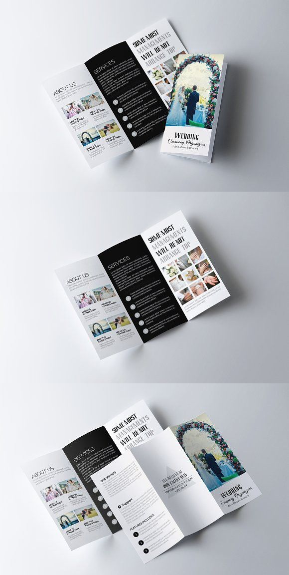 medical infographic wedding trifold brochure template creative