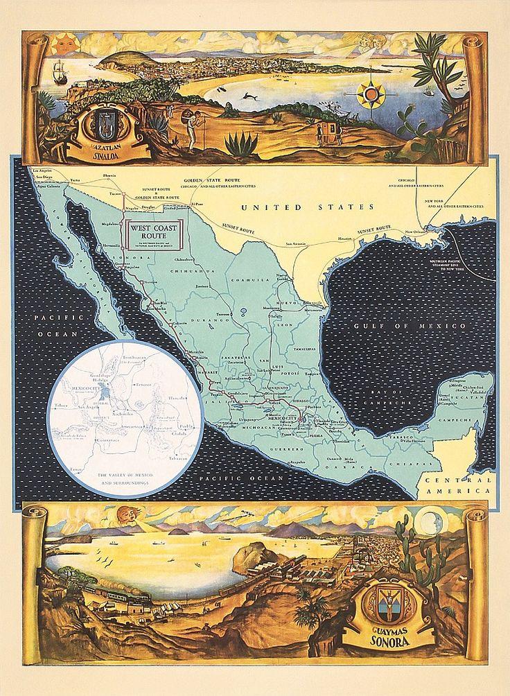 Travel infographic - Original 1930s Mexico West Coast Travel ...