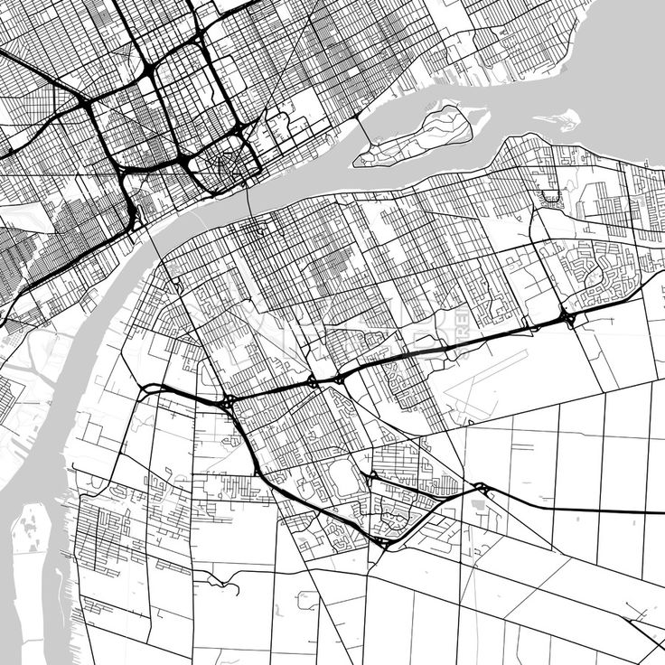 windsor ontario canada downtown city map in light version with Windsor Ontario Canada windsor ontario canada downtown city map in light version with many details