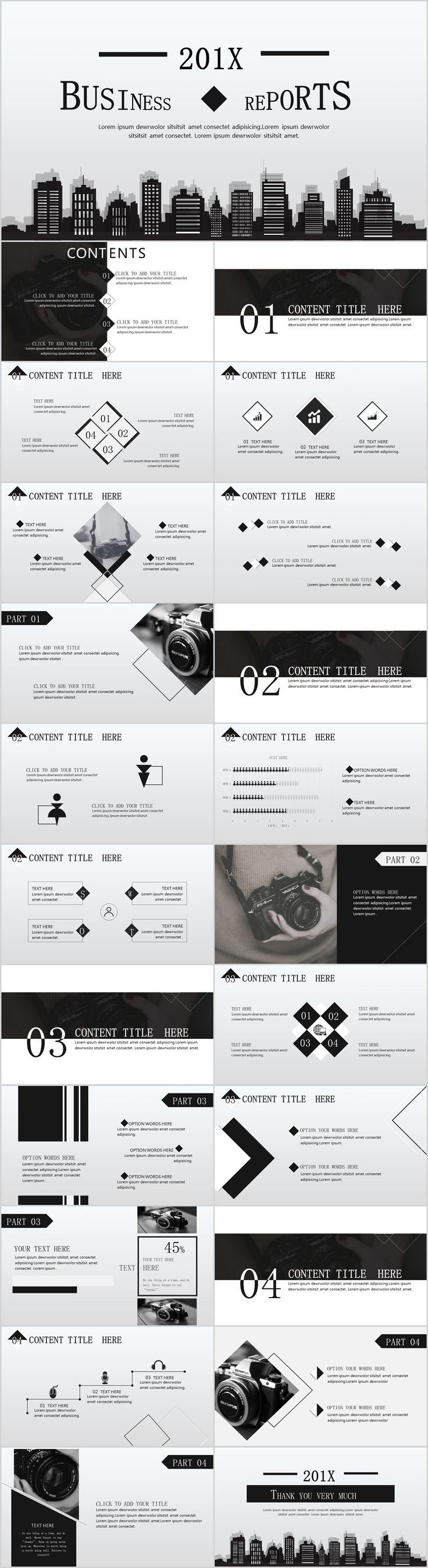 Business infographic gray business report powerpoint template description gray business report powerpoint template toneelgroepblik Gallery