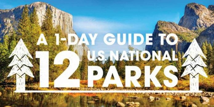 travel infographic national parks trip planner 12 one day