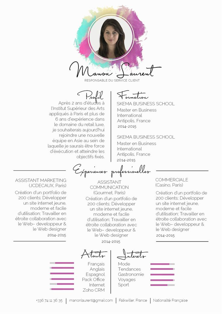 fashion infographic   cv originaux