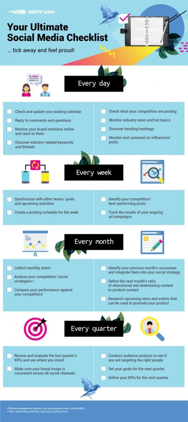 Social media infographic - Infographic: Your social media marketing checklist - InfographicNow.com | Your Number One Source For daily infographics & visual creativity