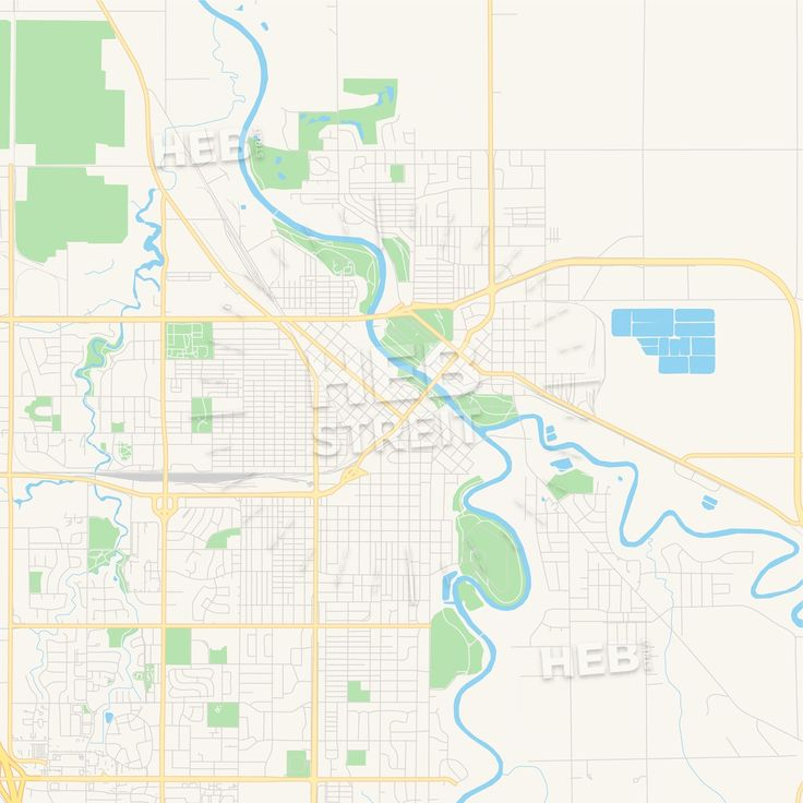 Travel infographic - Empty vector map of Grand Forks, North ...