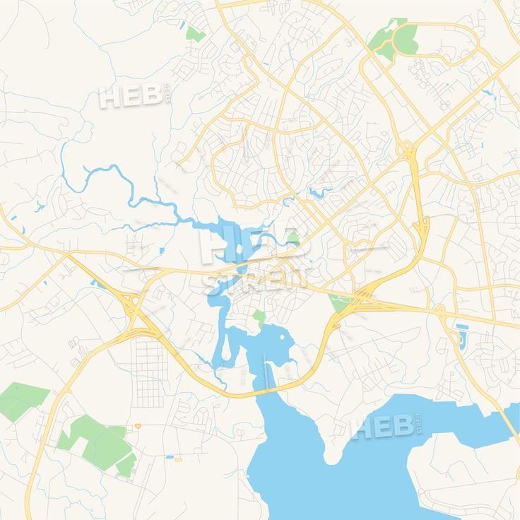 Travel infographic - Empty vector map of Jacksonville, North ...