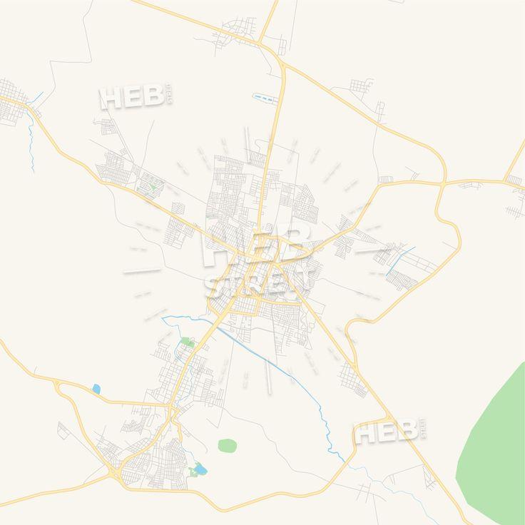 Travel infographic - Empty vector map of Zamora, Michoacán ...