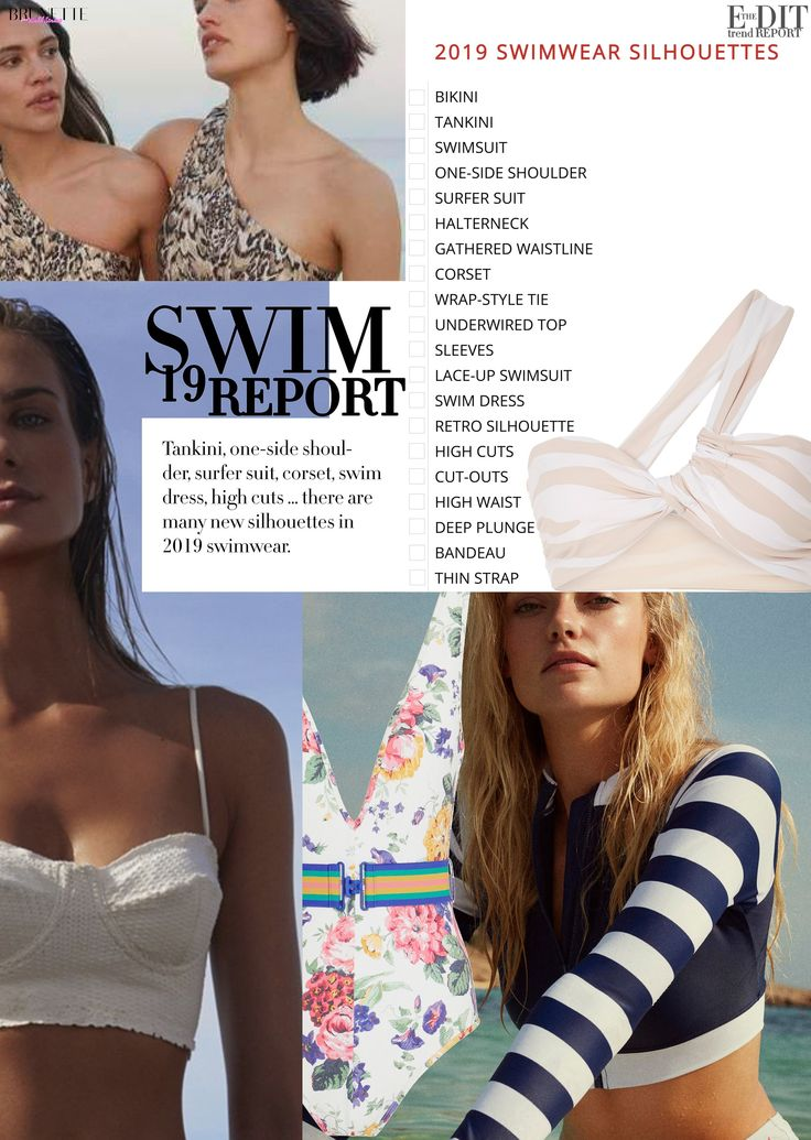 Fashion infographic : ALL SWIMWEAR TRENDS OF SUMMER 2019