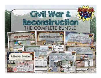 Educational infographic : Civil War & Reconstruction Unit ...