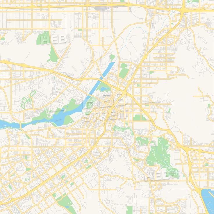 Travel infographic - Empty vector map of Riverside ...