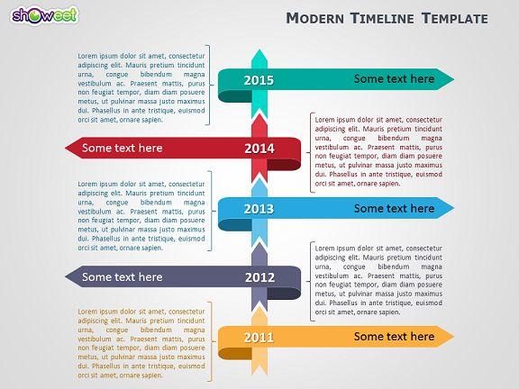 Management Modèle De Frise Chronologique Moderne Pour