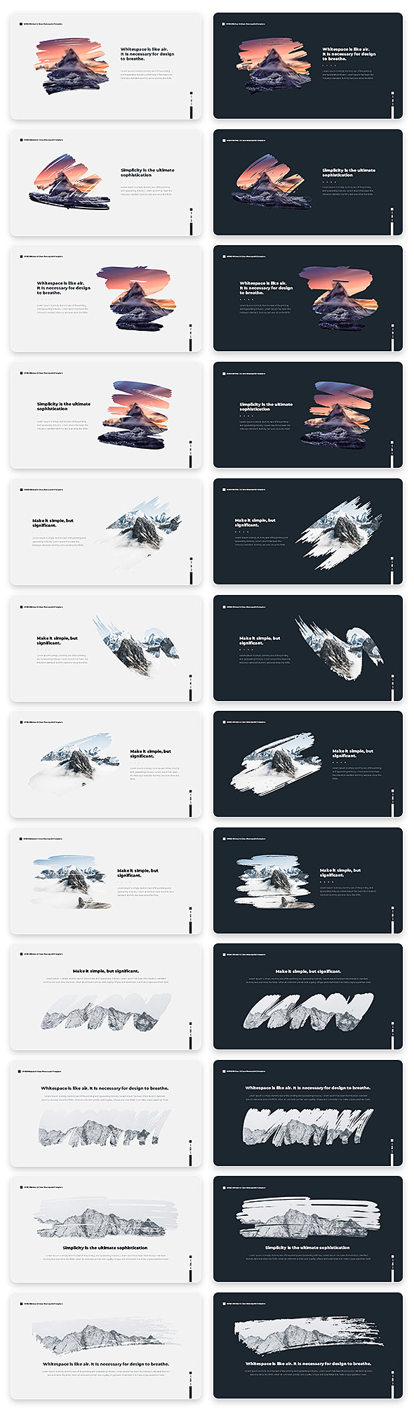 Wind Minimal & Clean Powerpoint With Text Animation Pack - 8