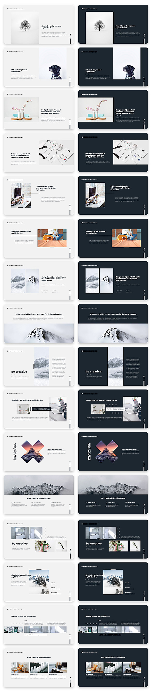 Wind Minimal & Clean Powerpoint With Text Animation Pack - 7