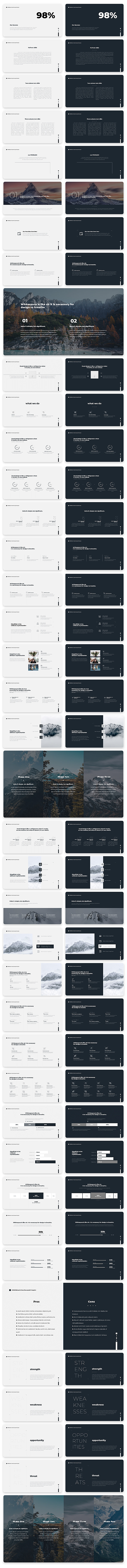 Wind Minimal & Clean Powerpoint With Text Animation Pack - 10