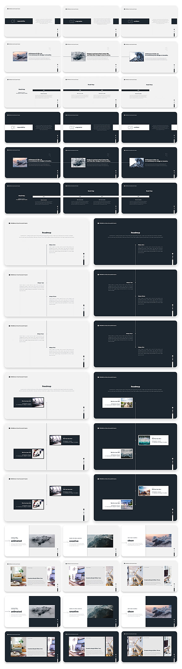 Wind Minimal & Clean Powerpoint With Text Animation Pack - 11