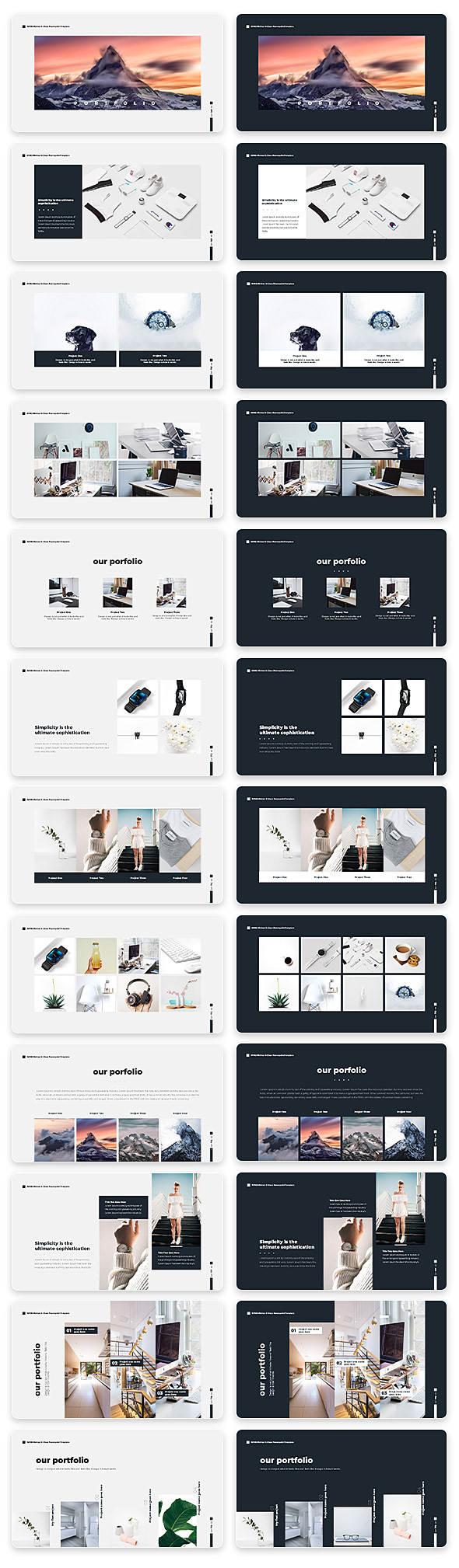 Wind Minimal & Clean Powerpoint With Text Animation Pack - 12