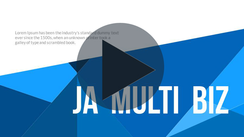 Ja MultiBiz PowerPoint Presentation Template - 1